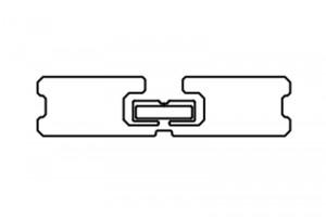 94x22mm U8 UHF RFID Dry Inlay