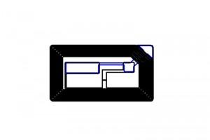38x22mm F08 RFID HF Dry Inlay